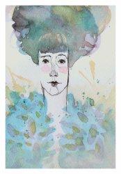 Laura Cordoba Artista plástica. Artes Visuales.Acuarelas. Silenciosa en el agua. Aleandra Pizarnik.