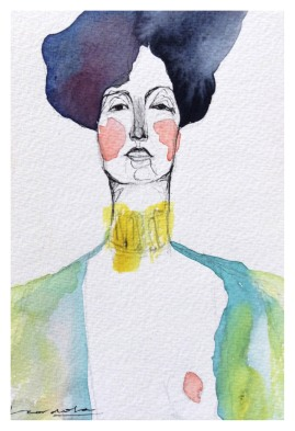 Una mirada sobre la alcantarilla (Estudio de Gustav Klimt)