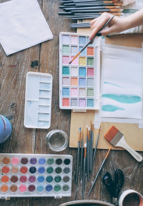 Pintura con acuarelas